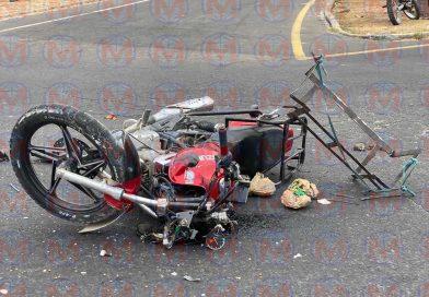 Motociclista resulta gravemente herido tras accidente sobre la carretera federal 76