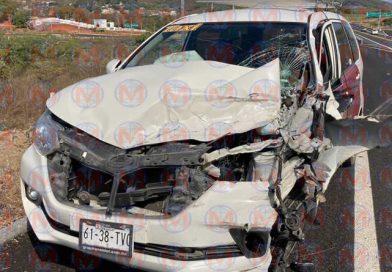 Aparatoso accidente se registró sobre el Libramiento Norte