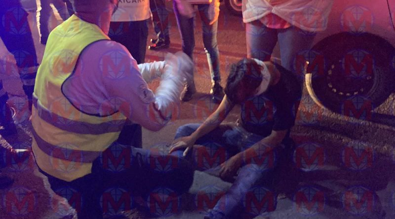 Motociclista resulta herido tras accidente en la ciudad de Tepic