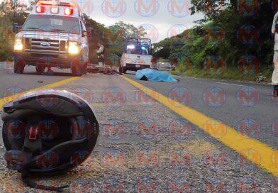 Motociclista pierde la vida sobre la autopista Tepic-Mazatlán
